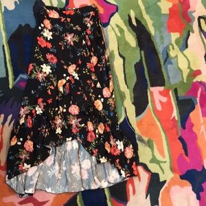 Farm Rio Anthropologie Contessa Floral Skirt XS